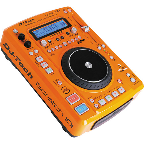 DJ-Tech iScratch 101 DJ CD Player and USB Software Controller (Orange)