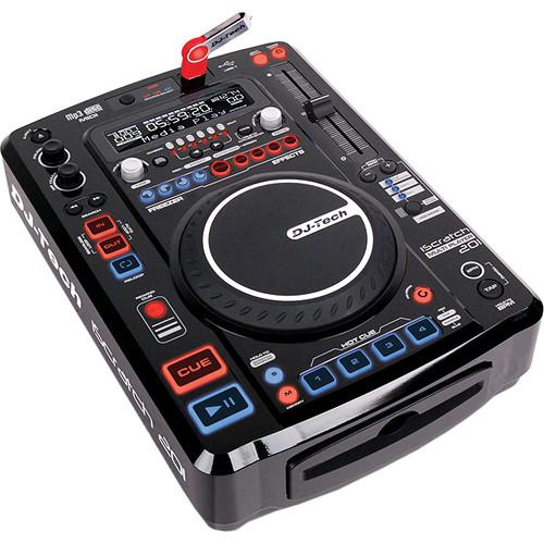 DJ-Tech iScratch 201 Pro DJ Controller CD MP3 USB Multi-Player