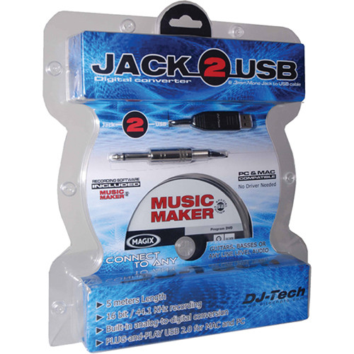 "DJ-Tech Jack-2-USB - 1/4"" to USB Cable"