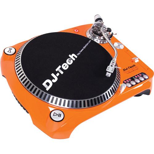 DJ-Tech SL-1300 MK6 Quartz Drive DJ Turntable (Orange)