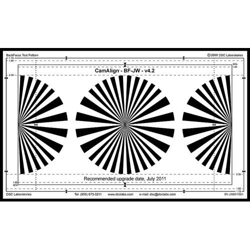 DSC Labs Backfocus Junior Focus Pattern Chart