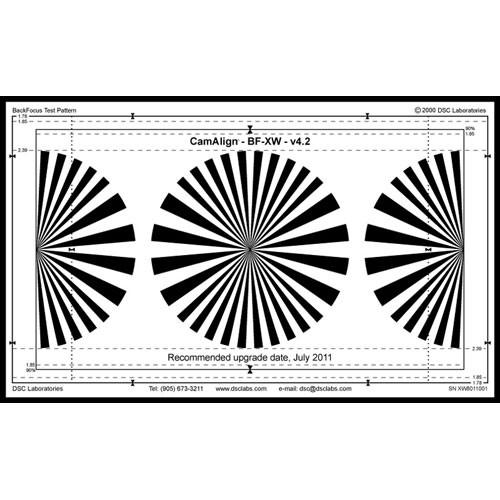 DSC Labs Backfocus Maxi Focus Pattern Chart