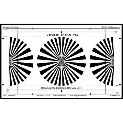 DSC Labs Backfocus Senior Focus Pattern Chart