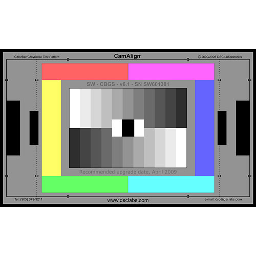 DSC Labs ColorBar/GrayScale Maxi CamAlign Chip Chart