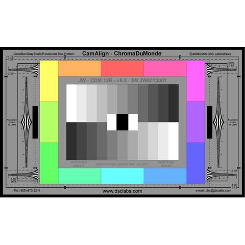 DSC Labs ChromaDuMonde 12-R Junior CamAlign Chip Chart with Resolution