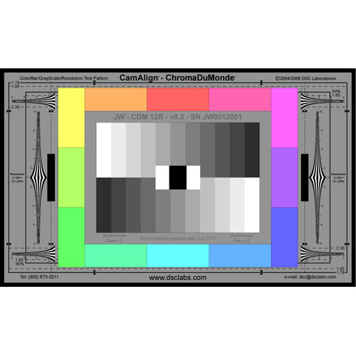 DSC Labs ChromaDuMonde 12-R Junior CamAlign Chip Chart with Resolution