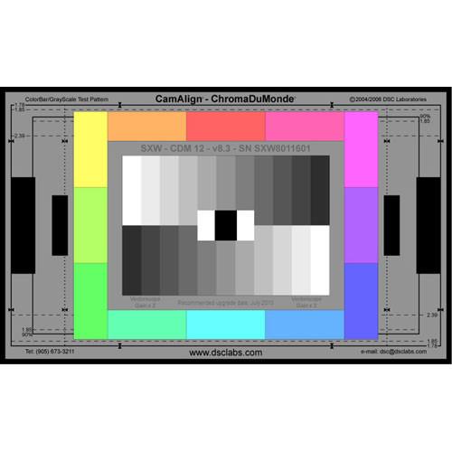 DSC Labs ChromaDuMonde 12 Super Maxi CamAlign Chip Chart