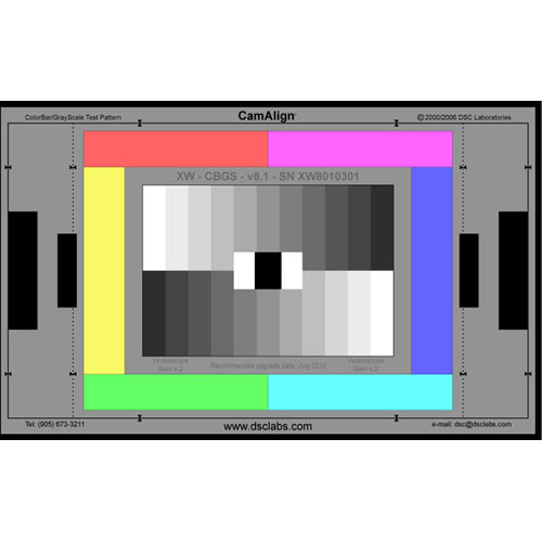 DSC Labs ChromaDuMonde 12+4-R Junior CamAlign Chip Chart with Resolution