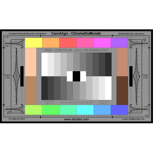 DSC Labs ChromaDuMonde 12+4-R Senior CamAlign Chip Chart with Resolution