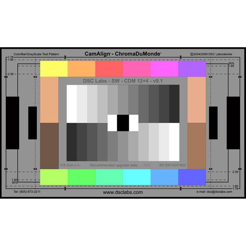 DSC Labs ChromaDuMonde 12+4 Standard CamAlign Chip Chart