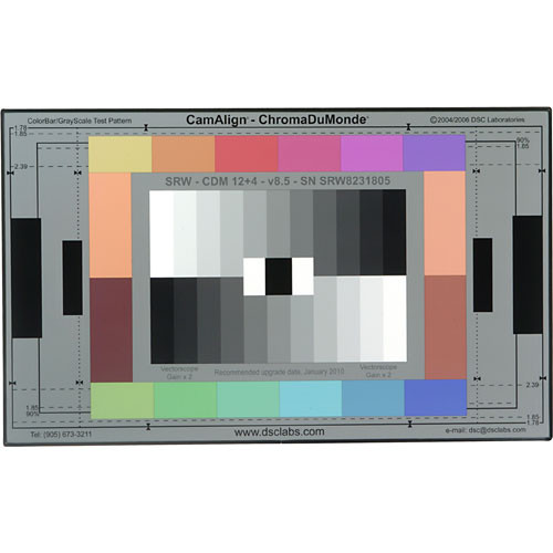 DSC Labs ChromaDuMonde 12+4 Senior CamAlign Chip Chart