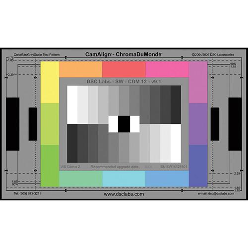 DSC Labs ChromaDuMonde 12 Standard CamAlign Chip Chart