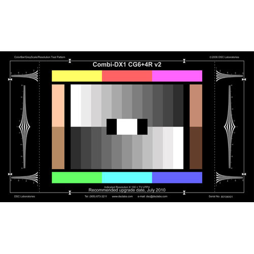 DSC Labs Combi ColorBar/GrayScale DX-1 CG+4R Calibration Chart