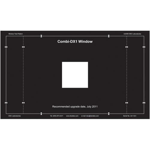 DSC Labs Combi MultiBurst DX-1 Window Chart Calibration Chart