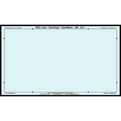 DSC Labs CamAlign CamWarm Chart (Junior)