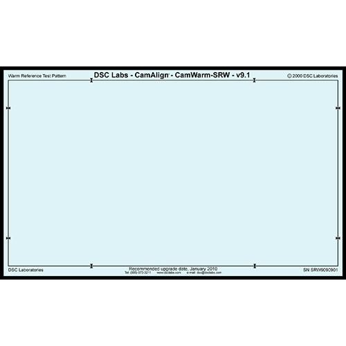 DSC Labs CamAlign CamWarm Chart (Standard)