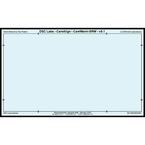 DSC Labs CamAlign CamWarm Chart (Senior)