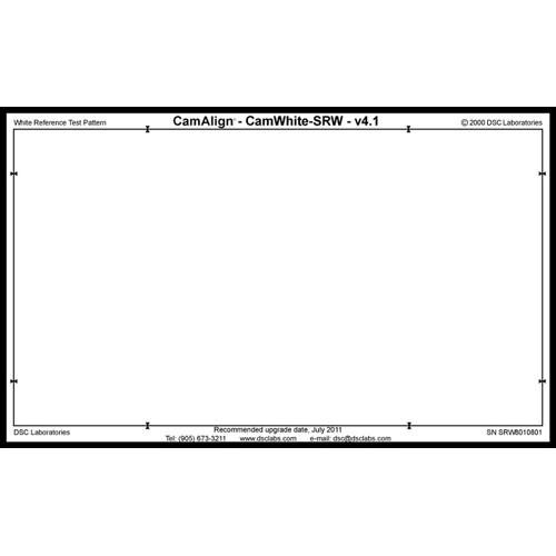 DSC Labs CamAlign CamWhite Chart (Senior)