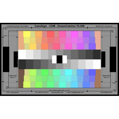 DSC Labs ChromaDuMonde 76 Super Maxi CamAlign Chip Chart