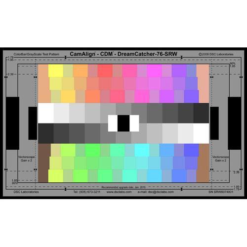 DSC Labs ChromaDuMonde 76 Senior CamAlign Chip Chart