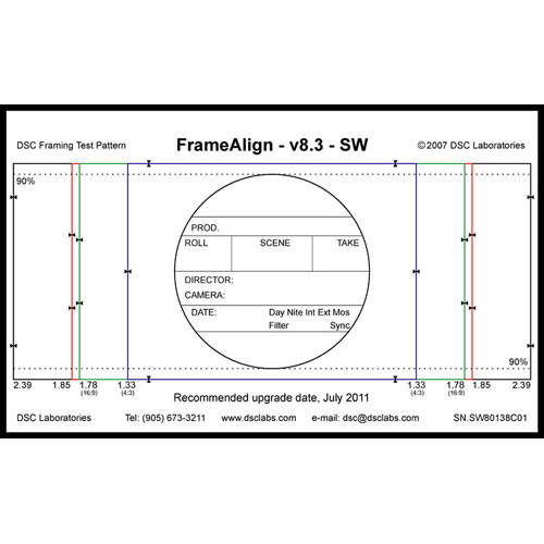 DSC Labs FrameAlign Standard CamAlign Chart