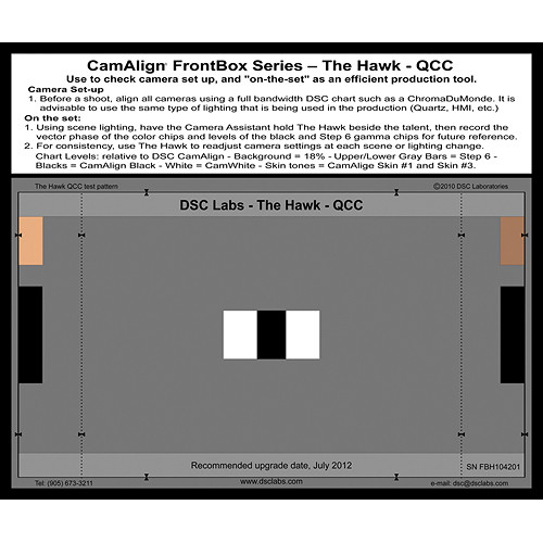 DSC Labs Hawk-QCC FrontBox Chart HD 16:9
