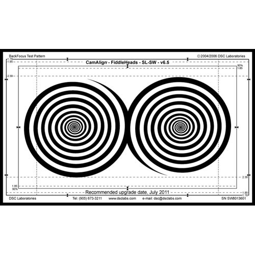 DSC Labs Fiddlehead Standard Focus Pattern Chart