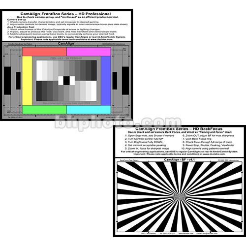 DSC Labs FrontBox Standard Test Chart - Six Primary Colors, 11 Step Grayscale