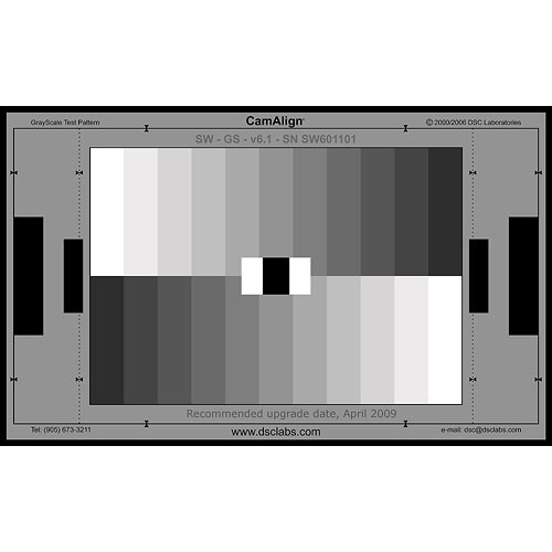DSC Labs GrayScale Junior CamAlign Chip Chart