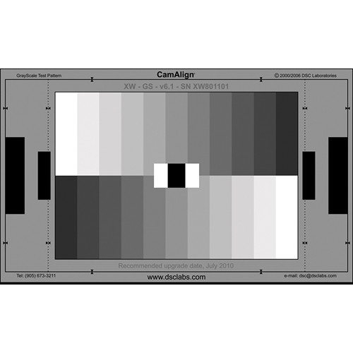 DSC Labs GrayScale Maxi CamAlign Chip Chart