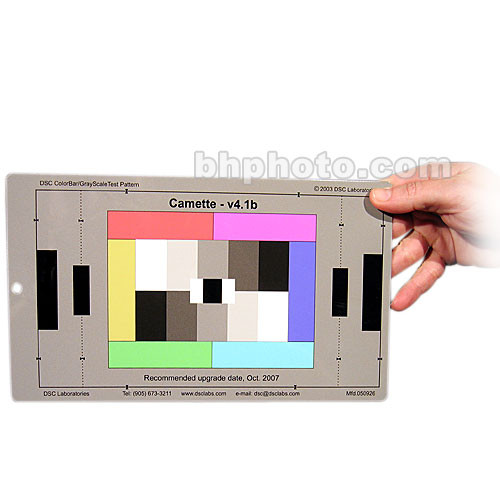 DSC Labs Handy Camette Test Chart - 5-Step Grayscale, 6 Primary Colors, CamWhite