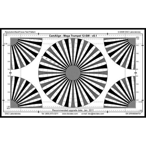 DSC Labs MegaTrumpet 12 Super Maxi Resolution & Focus Chart