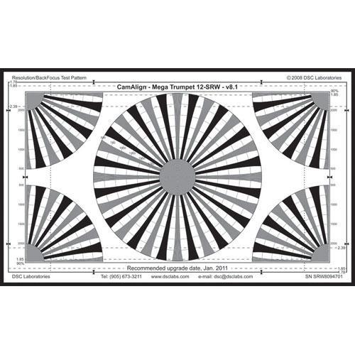 DSC Labs MegaTrumpet 12 Senior Resolution & Focus Chart