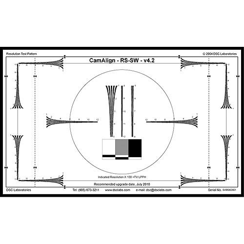 DSC Labs Resolution and Basic Setup Chart