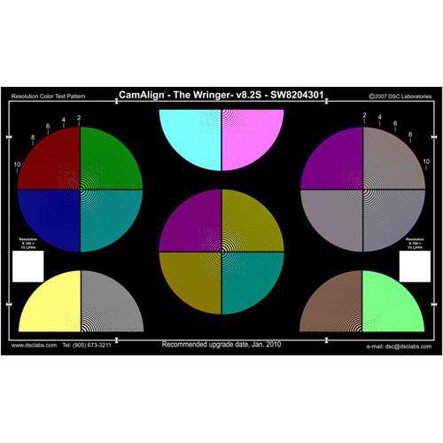 DSC Labs Wringer Standard CamAlign Chip Chart