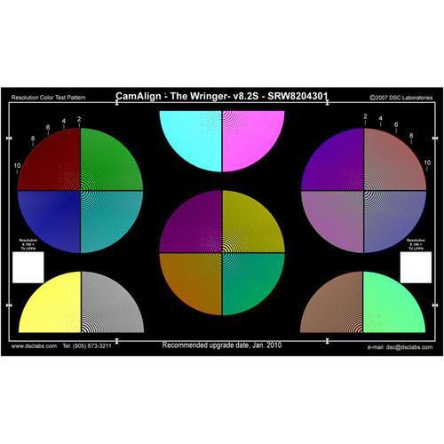 DSC Labs Wringer Senior CamAlign Chip Chart