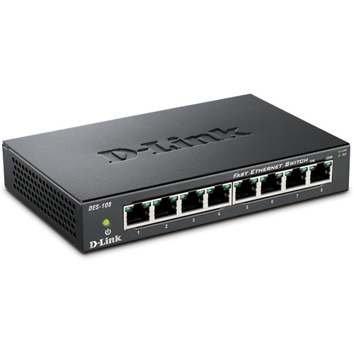 D-Link DES-108 8-Port 10/100 Fast Ethernet Switch