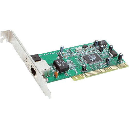 D-Link DGE-530T 10/100/1000 Mbps 32-bit Copper Gigabit PCI Card