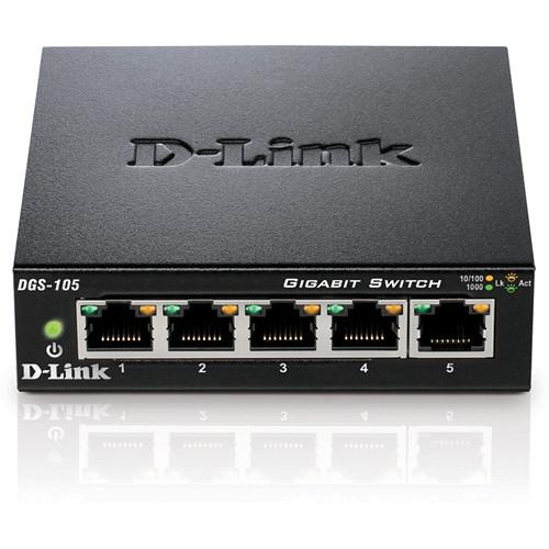 D-Link DGS-105 5-Port Gigabit Ethernet Switch