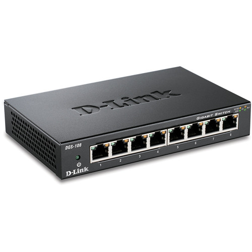 D-Link DGS-108 8-Port Gigabit Ethernet Switch