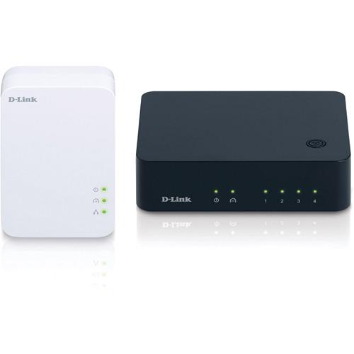 D-Link PowerLine AV 500 4-Port Gigabit Switch Kit