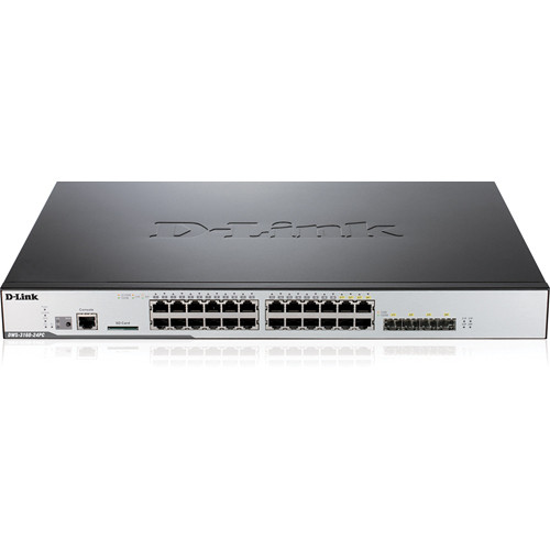 D-Link Unified Wireless Gigabit 24 Port L2+ Switch with 12 AP License