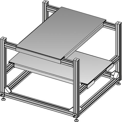 """Da-Lite 21400  3D Projector Stacker (10 x 19"""")"""