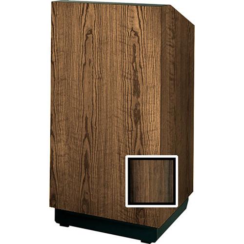 "Da-Lite Floor Lectern, 48"" Multi-Media - The Lexington - No Sound (Heritage Walnut Veneer)"