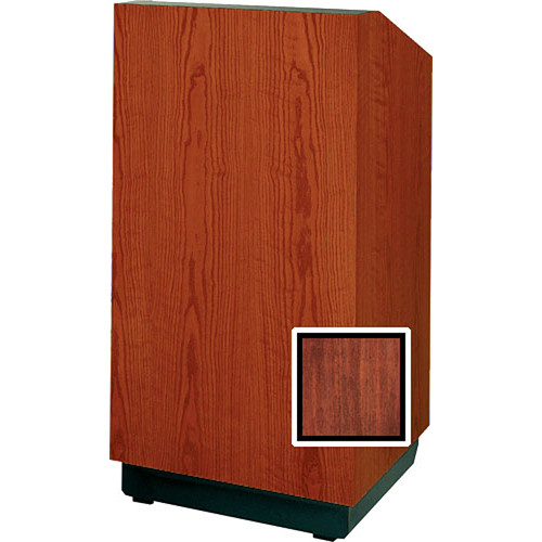 "Da-Lite Floor Lectern, 48"" Multi-Media - The Lexington - Mahogany Veneer"