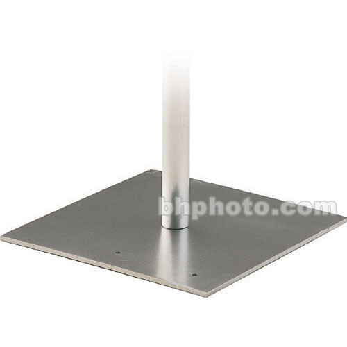 "Da-Lite Flat Steel Base with Mounting Stud for Pipe and Drapery System - 18 x 18 x 3/8"" (One Piece)"