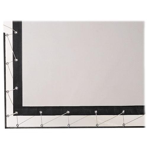 Da-Lite Lace & Grommet Surface Screen - Per Square Foot - Ultra Wide Angle