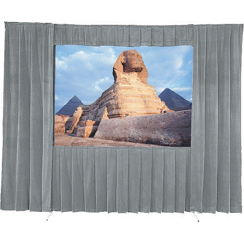 Da-Lite 36537GR Drapery Kit With Drapery Bar (8 x 8', Gray)