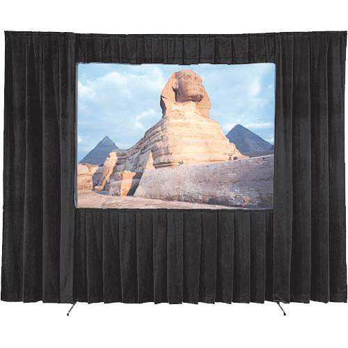 "Da-Lite 36541 Ultra Velour Drapery Kit for Fast-Fold Truss Frames (69 x 120"", Black)"