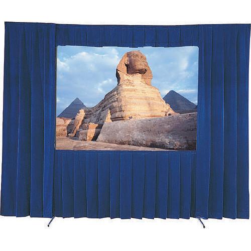 """Da-Lite 36545BU Drapery Kit With Drapery Bar (83 x 144"""", Blue)"""